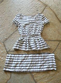 DIY a too-short dress into a peplum top