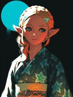 Princesa Zelda, The Legend Of Zelda, Legend Of Zelda Breath, Breath Of The Wild, Yukata, Image Zelda, Link Zelda, Fan Art, Twilight Princess