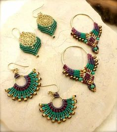 tpys for boys and The Most Beautiful Pictures at Pinteres It is one of the best quality pictures that can be presented with this vivid and … Macrame Bag, Macrame Necklace, Macrame Jewelry, Diy Jewelry, Handmade Jewelry, Jewelry Making, Jewellery, Big Earrings, Seed Bead Earrings