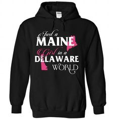 A MAINE-DELAWARE girl Pink02 - #easy gift #gift sorprise. ADD TO CART => https://www.sunfrog.com/States/A-MAINE-2DDELAWARE-girl-Pink02-Black-Hoodie.html?68278