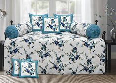 Diwan Sets Printed Pure Cotton 90 X 59 Diwan Set  Bedsheet Fabric: Cotton Bolster Cover Fabric: Cotton Cushion Cover Fabric: Cotton No. of Bedsheets: 1 No. of Bolster Covers: 2 No. of Cushion Covers: 5 Thread Count: 180 Print or Pattern Type: Solid Multipack: 1 Sizes:  Free Size (Bedsheet Length Size: 90 in Bedsheet Width Size: 59 in Bolster Cover Length Size: 32 in Bolster Cover Width Size: 15 in Cushion Cover Length Size: 15 in Cushion Cover Width Size: 15 in) Country of Origin: India Sizes Available: Free Size   Catalog Rating: ★4.3 (2222)  Catalog Name: Printed Pure Cotton 90 X 59 Diwan Set CatalogID_1075262 C117-SC1107 Code: 157-6743325-4791