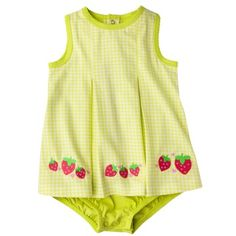 If one of my babies is a girl, this is a MUST!!! JUST ONE YOU® Made by Carters Infant Girls' Sunsuit - White/Light Green #Target