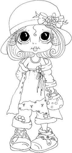 desenhos infantis - menininha