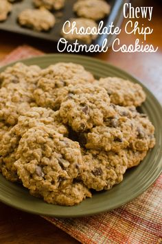 Chewy Chocolate Chip Oatmeal Cookies!