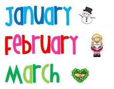 THEMED Months of the Year Calendar Headings |