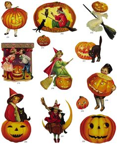 vintage halloween from the Bogie Book Free vintage images Halloween Retro Halloween, Halloween Fotos, Vintage Halloween Cards, Halloween Prints, Halloween Pictures, Vintage Holiday, Holidays Halloween, Happy Halloween, Halloween Decorations