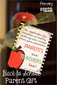 Welcoming Your New Parents - two fun ways to welcome your parents to the new school years.  FREE printables.