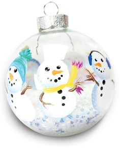DecoArt® Snowman Ornament with Beads #ornaments #craft #christmas