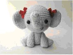 Cute Amigurumi Elephant Girl - FREE Crochet Pattern / Tutorial (use Google Translate)