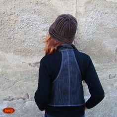 teplý hnědý manšestrový klobouk s flísem