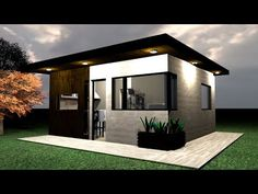 Casa 5 x 5 m / House 5 x 5 / Rumah 5 x 5 m Minimal House Design, Modern Small House Design, Small House Interior Design, Simple House Design, Bungalow House Design, Mini House Plans, Model House Plan, Dream House Plans, Tyni House