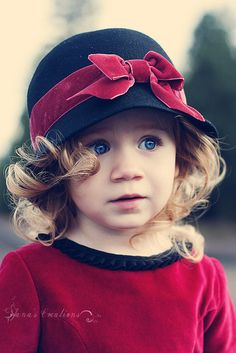 sweet- our little grand daughters would look adorable in this hat...my first thought was Maia.