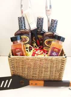 Grill Master Gift Basket. Might be what I make for my husband's	 Dad.