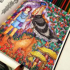 Era uma vez... 👧🏼 once upon a time #sommarnatt #hannakarlzon #arterapia #arteantiestres #coloringbook