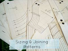 Joining your Sewing Pattern Templates http://www.patchworkposse.com/2013/09/joining-your-sewing-pattern-templates/