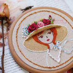how to embroider hair tutorial - Salvabrani Creative Embroidery, Cute Embroidery, Embroidery Fabric, Hand Embroidery Patterns, Cross Stitch Embroidery, Machine Embroidery, Kurti Embroidery Design, Yarn Thread, Brazilian Embroidery