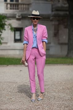 Way to wear an easy suit