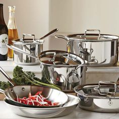 All-Clad d5 Stainless-Steel 10-Piece Set   Williams-Sonoma