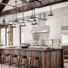 """Industrial meets lake house and it hits the bullseye #shifletgrouparchitects #kitchen #interiors #decor #industrial #lakehouse #modernfarmhouse #design…"""