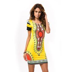 b04a2f0803d3 Womens Fashion Mini African Print Summer Spring Casual Long Dress Shirt  (Plus Size Included)