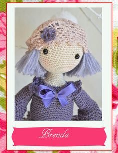 Collectible doll Elegant crochet doll child friendly ♡ by chepidolls