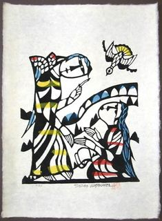 Japanese Art by the artist Sadao Watanabe | The Annunciation