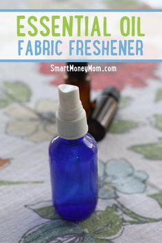 Learn how to make your own essential oil fabric freshener.