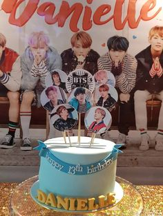 Y want to celebrate their love of BTS right, they throw a BTS-themed party! Bts Happy Birthday, Army's Birthday, 13th Birthday Parties, Birthday Party Themes, Bts Cake, Bithday Cake, Bts Birthdays, Birthday Backdrop, Blackpink And Bts