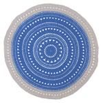 Crochet Blue and grey Round floor matt Incy Interiors