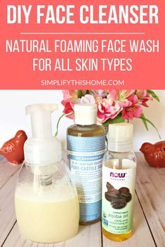 DIY Face Cleanser – Natural Foaming Face Wash for All Skin Types Kick your old face cleanser to the curb and make this DIY face cleanser instead! This natural foaming face wash is perfect for all skin types, even the most sensitive skin! Natural Face Cleanser, Natural Skin Care, Best Natural Face Wash, Organic Face Wash, Natural Hair, Best Face Wash, Natural Facial, Organic Skin Care, Perfectly Posh