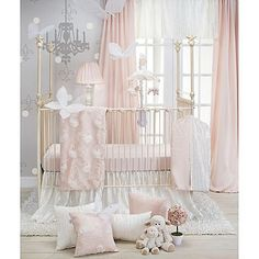 Create a lovely nursery fit for a princess with the beautiful Glenna Jean Lil Princess Crib Bedding Set. The lavish crib bedding set features a world of delicate petal pink and cream with a vintage-inspired look. Princess Crib Bedding, Baby Girl Crib Bedding, Princess Nursery, Nursery Bedding Sets, Pink Bedding, Baby Cribs, Girl Nursery, Girl Room, Luxury Bedding