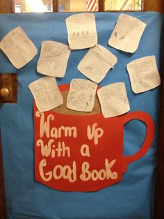 Warm up with a good book! Students can write about a book they have read on marshmallow shaped paper.