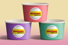Ücretsiz Dondurma Bardağı PSD Mockup