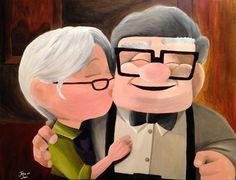 Carl & Ellie Up Painting