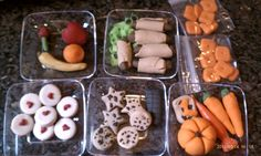 American Girl / AG Doll food made from oven clay by @Penny DeVries and Alea. My favorite is the Cheese-Its. Plates are from a party store