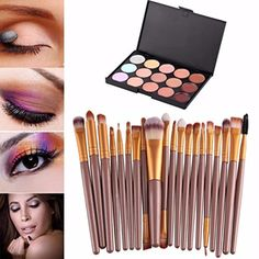 DATEWORK 15 Colors Makeup Palette  20 Brush >>> You can find more details by visiting the image link.