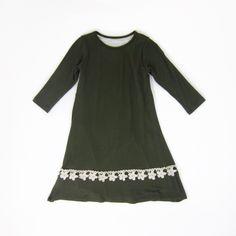 c6570a55cc7329 Girls Olive Green Swing Dress Cat Dresses, Swing Dress, Dress Up, Olive  Green. Liberty Lark LLC