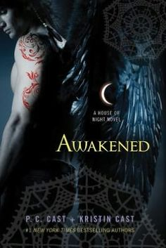 House of night series by P.C. & Kristin Cast!  Book #9 pictured here