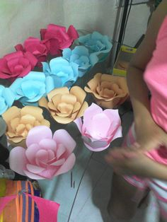 faciles flores de cartulina #paperflowers