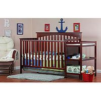 Dream On Me Chloe 5-in-1 Convertible Crib with Changer - Cherry Babies-R -Us  $249