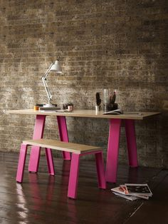Trestle Table. Went to London to see their designs which are made to order. So amazing I could have walked out with all their furniture and no where to put it!