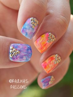 212 Best Watercolor Nails Images On Pinterest Polish Water Color