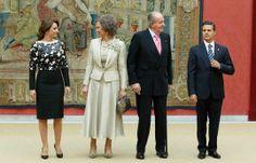 Angelica Rivero, Reina Sofía, Rey Juan Carlos y Enrique Peña Nieto