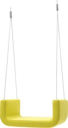 Upholstered indoor swing ME&U - SOFTLINE #design #yellow #swing