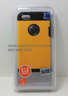 เคสสำหรับ IPhone 5 และ 5S สีเหลือง spigen  Slim Armor Metal Series01
