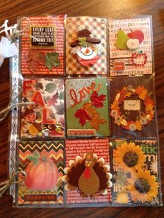 Ready for fall Pen Pal Letters, Pocket Letters, Pocket Pal, Pocket Cards, Fall Paper Crafts, Holiday Crafts, Atc Cards, Journal Cards, Fun Mail