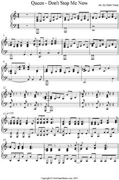 Don't Stop Me Now - Queen Piano Sheet Music