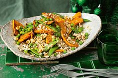 Mix it up - we've used a blend of rice and barley in this recipe, but you could change it for quinoa or couscous. Rice Salad Recipes, Healthy Recipes, Savoury Recipes, Healthy Meals, Healthy Eating, Christmas Salad Recipes, Xmas Recipes, Pumpkin Recipes, Fennel Salad
