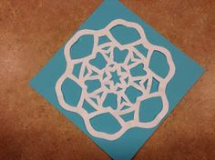 Great step-by-step snowflake-cutting directions.