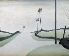 Derbyshire Landscape by LS Lowry, 1954 Landscape Art, Landscape Paintings, Art Paintings, Landscapes, Art Pictures, Art Images, English Artists, British Artists, Research Images
